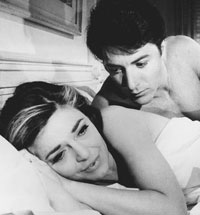 Dustin Hoffman and Anne Bancroft from the movie The graduate