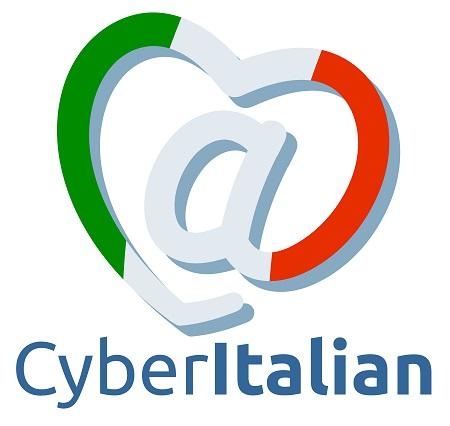 Il nuovo logo di CyberItalian. Perché amiamo la lingua e la cultura italiana, lavoriamo con passione e ti vogliamo bene!